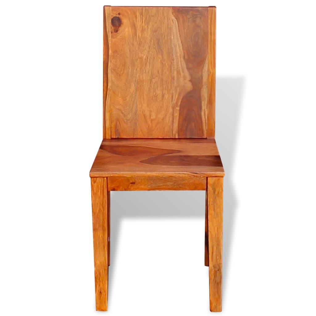 Vidaxl sillas de comedor de madera maciza de sheesham 6 for Sillas madera maciza para comedor