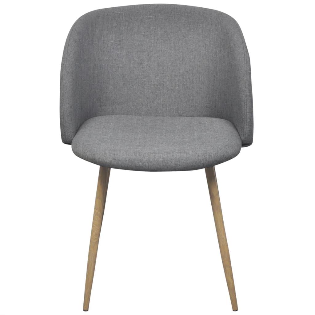 La boutique en ligne vidaxl chaises de salle manger 4 for Chaise de salle a manger gris clair