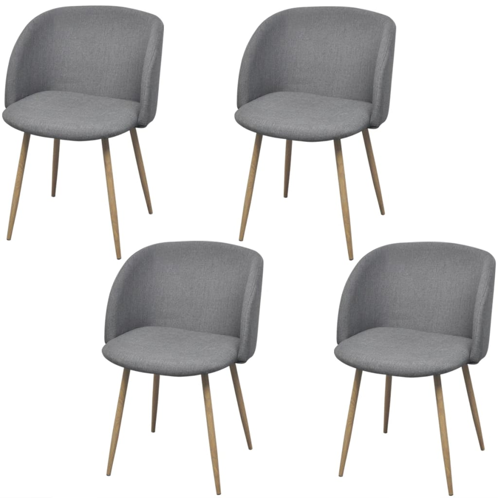 vidaXL Krzesła jadalniane, jasnoszare, 4 szt.