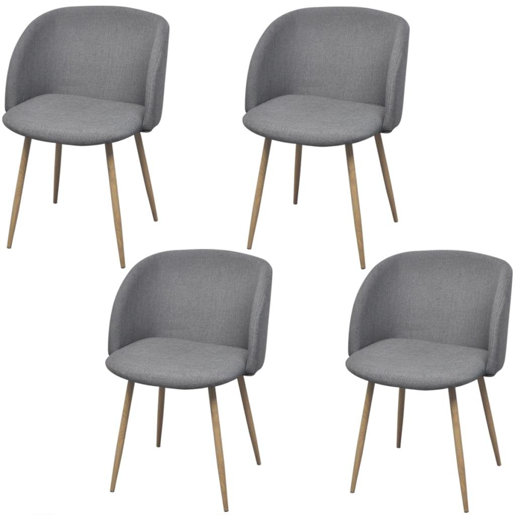 acheter vidaxl chaises de salle manger 4 pi ces gris clair pas cher. Black Bedroom Furniture Sets. Home Design Ideas