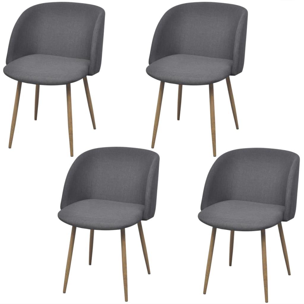 vidaXL Krzesła jadalniane, ciemnoszare, 4 szt.