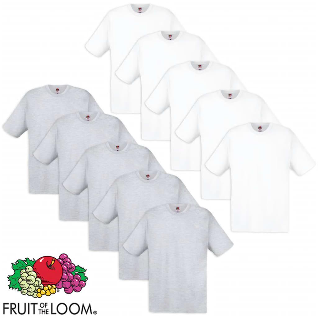 Fruit of the Loom 10 db fehér és szürke 100% pamut eredeti póló