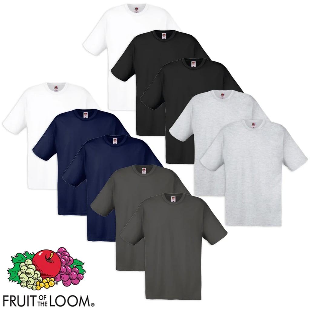 Fruit of the Loom 10 többszínű 100% pamut eredeti póló
