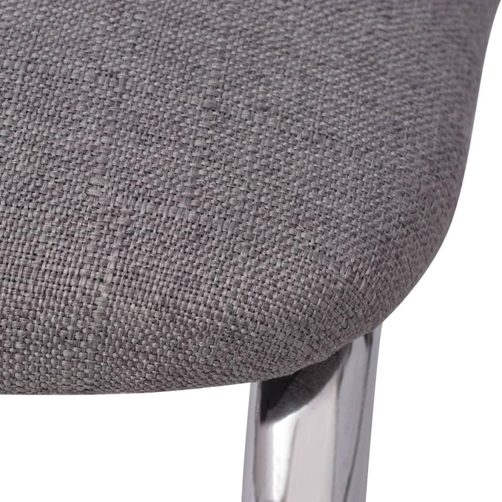 der vidaxl 6x esszimmerstuhl grau stoff online shop. Black Bedroom Furniture Sets. Home Design Ideas