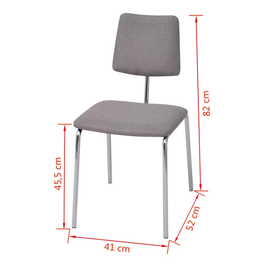 Vidaxl sillas de comedor 6 unidades tela gris tienda - Sillas comedor grises ...