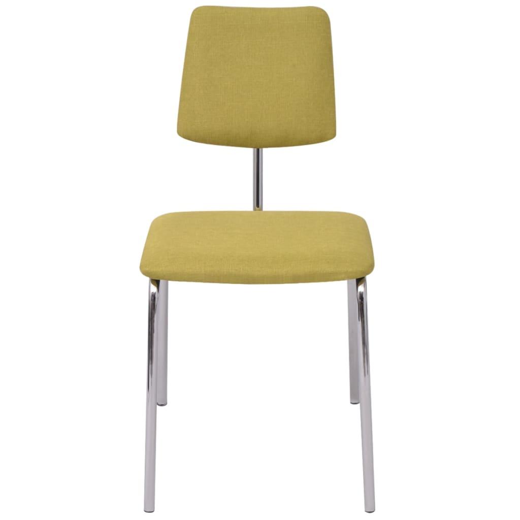 Vidaxl sillas de comedor 4 unidades tela verde tienda - Tela para sillas de comedor ...