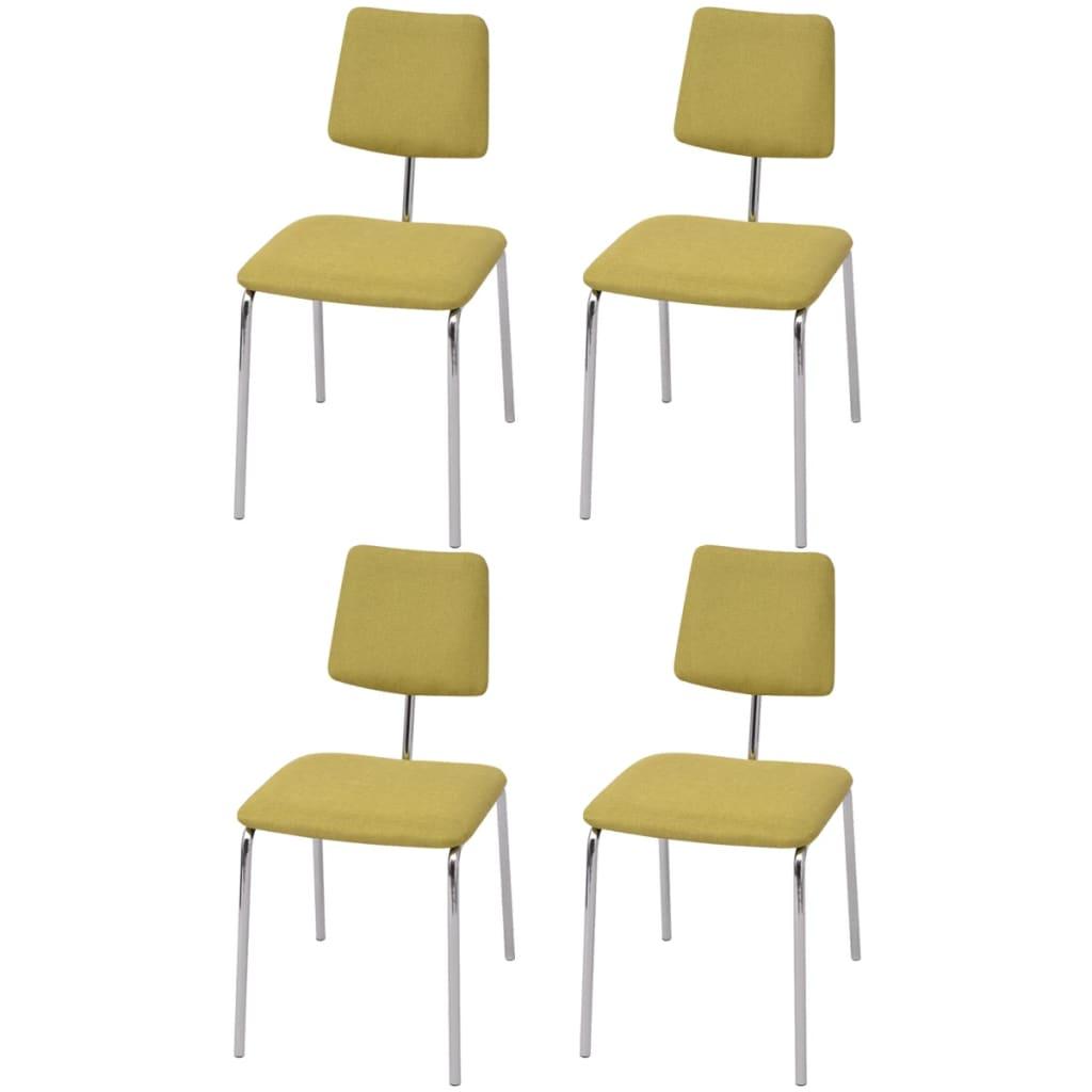 La boutique en ligne vidaxl chaise de salle manger 4 for Salle a manger vert