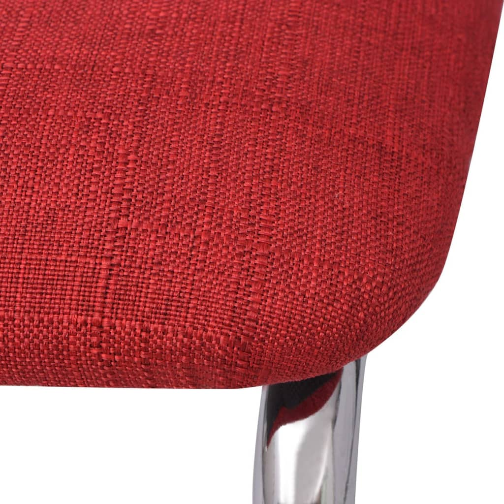 Vidaxl 2x esszimmerstuhl rot stoff g nstig kaufen for Esszimmerstuhl rot
