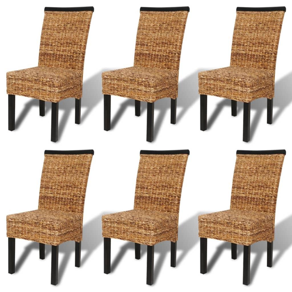 La boutique en ligne vidaxl chaises de salle manger abaca marron 6 pi ces - Soldes chaises salle a manger ...