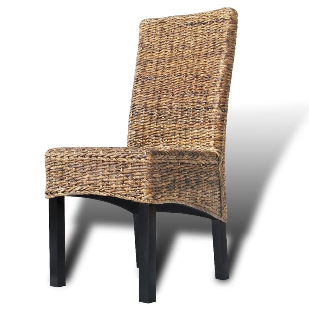 6 Pcs Brown Rattan Wicker Kitchen Dining Room Chair Solid