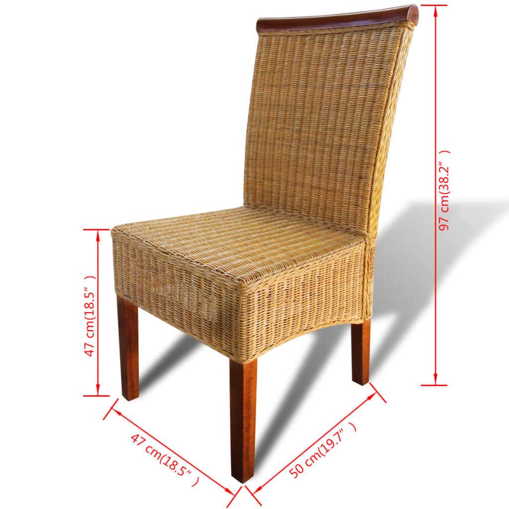 La boutique en ligne vidaxl chaises de salle manger 6 for Chaise en rotin en solde