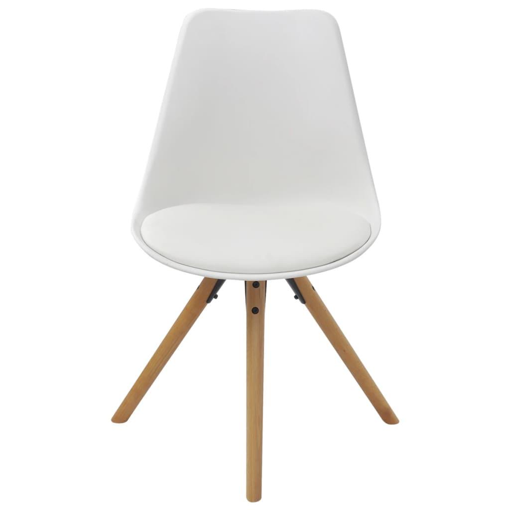 Acheter vidaxl chaises de salle manger 6 pcs en cuir Chaise cuir blanc salle a manger