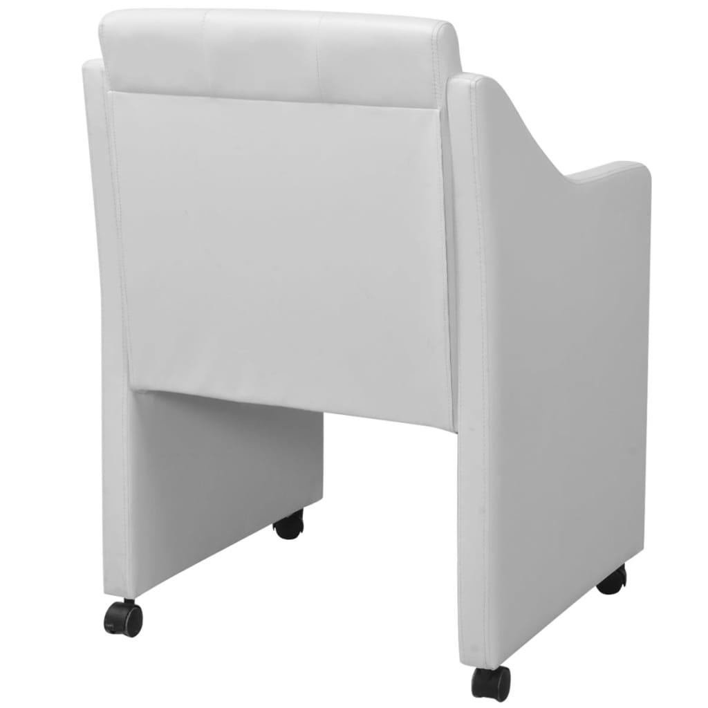 Vidaxl sedie sala da pranzo 4 pz bianche 59x57 5x86 5 cm for Sedie bianche sala da pranzo