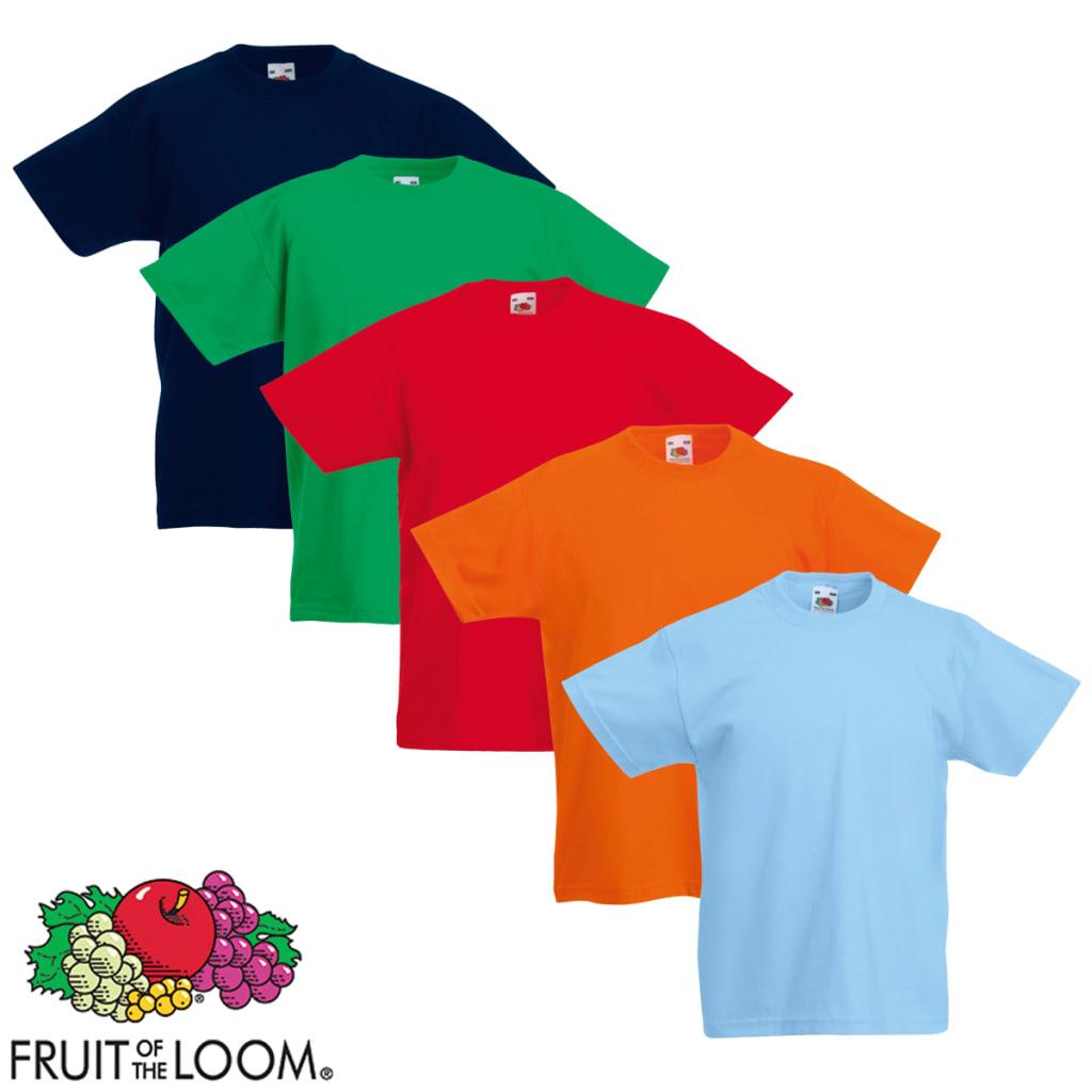 Fruit of the Loom 5 db eredeti gyerek póló több színben 116-os méret