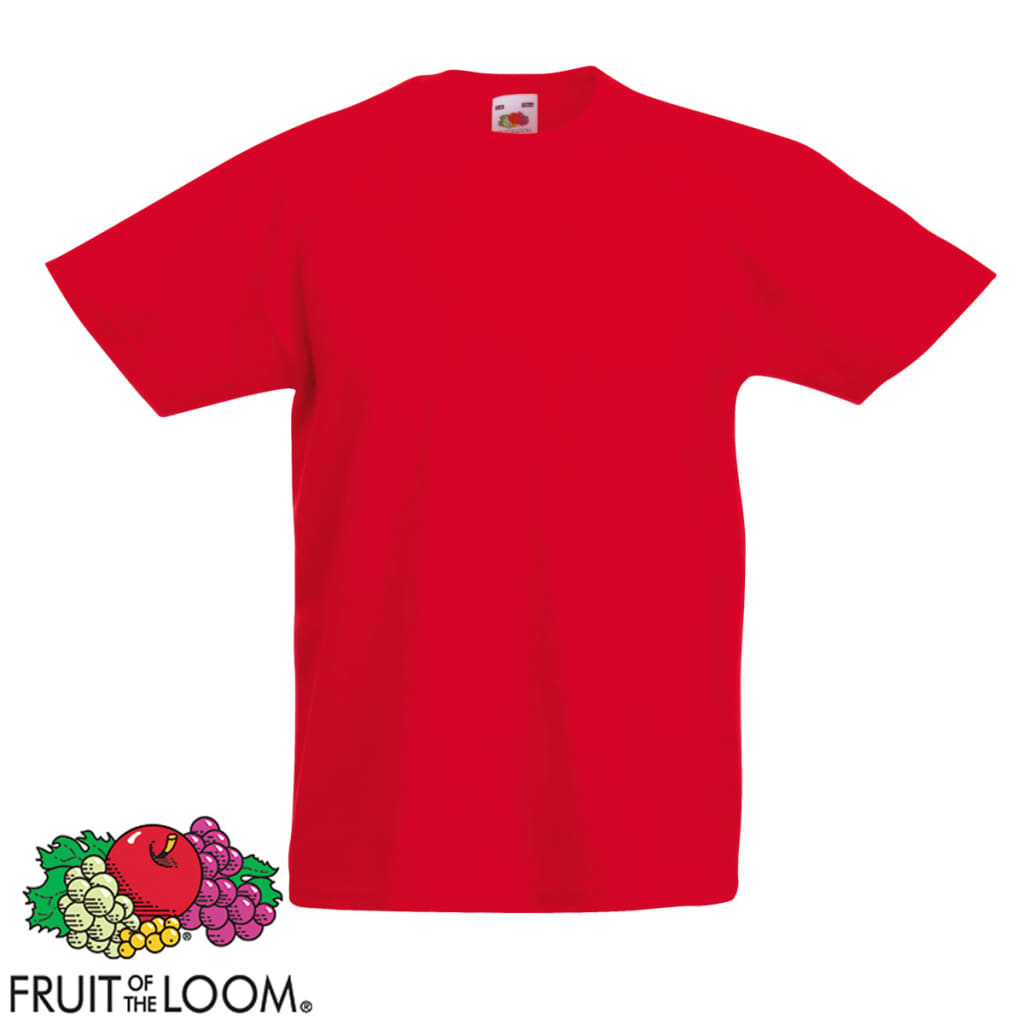 Camisetas-para-Ninos-Pack-5-Unidades-Multicolor-Talla-164-Fruit-of-the-Loom