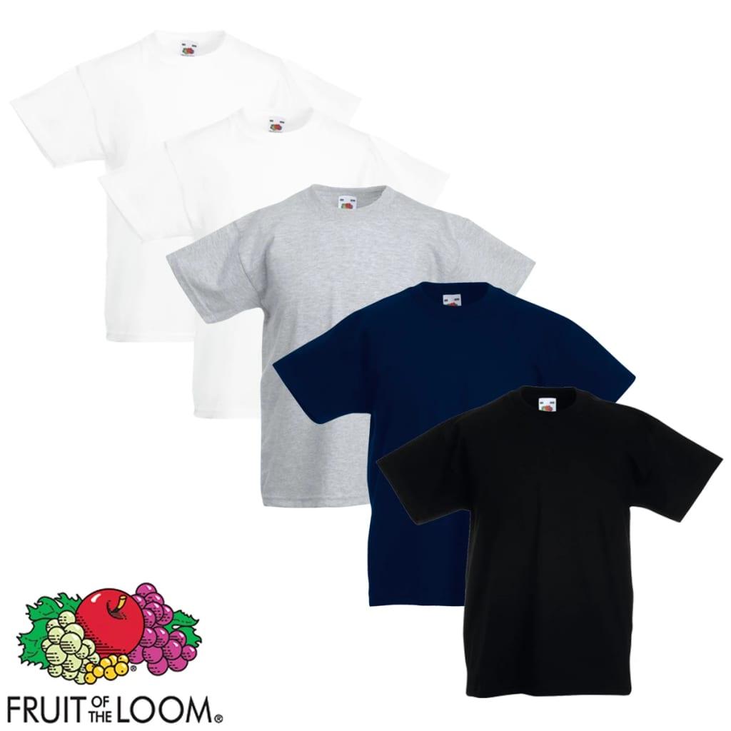 Fruit of the Loom 5 db Többszínű 128-as méretű eredeti gyerek póló