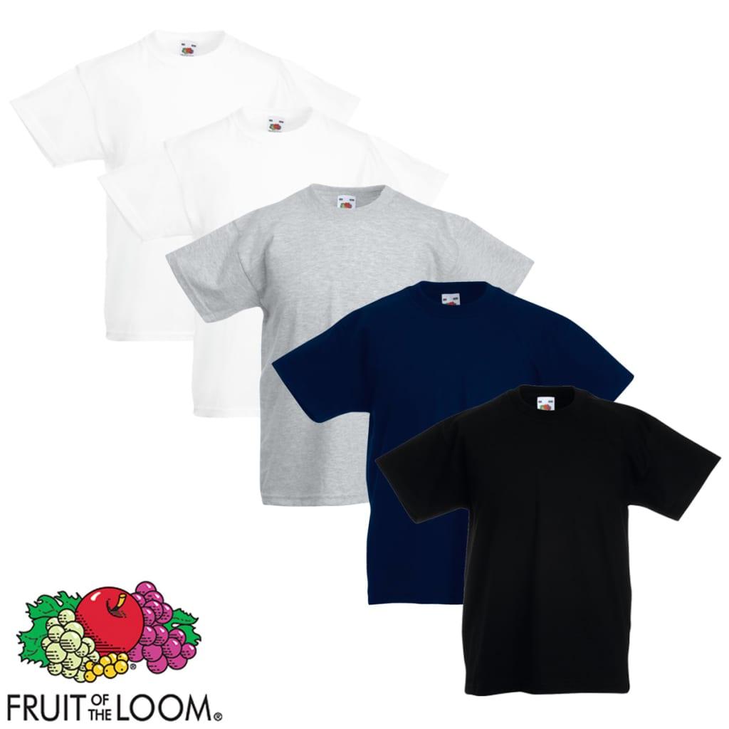Fruit of the Loom 5 db többszínű 164-es méretű eredeti gyerek póló
