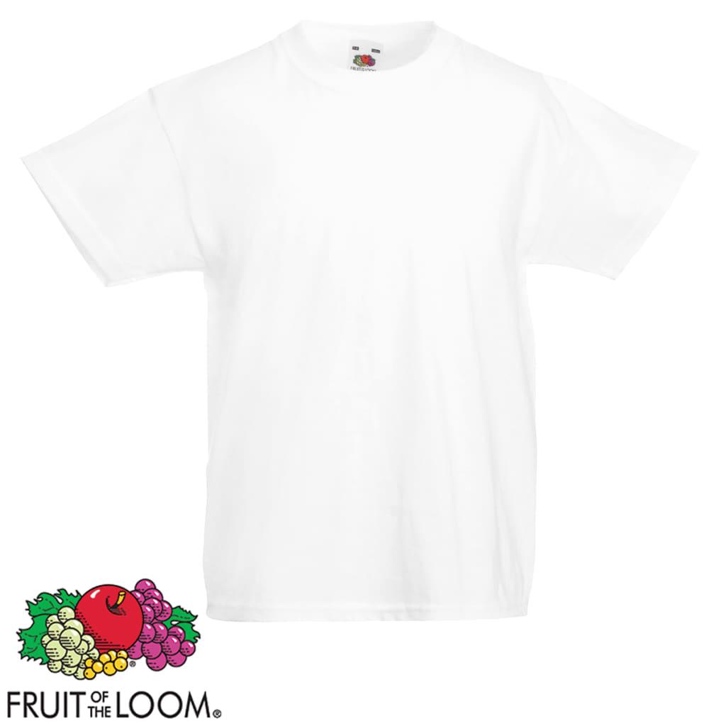 fruit of the loom original kids 39 t shirt 5 pcs white and. Black Bedroom Furniture Sets. Home Design Ideas