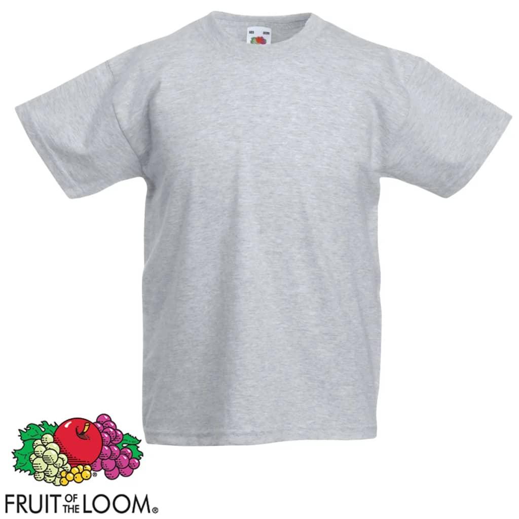 Fruit-of-the-Loom-Pack-de-5-Camisetas-para-Ninos-Color-Gris-y-Negro-Talla-116