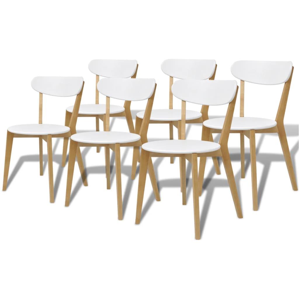vidaXL Krzesła do jadalni z MDF i drewna brzozowego, 6 szt.