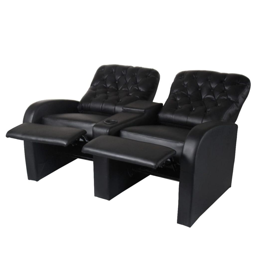 Acheter vidaxl fauteuil inclinable deux pi ces 2 3 places - Fauteuil deux places ...