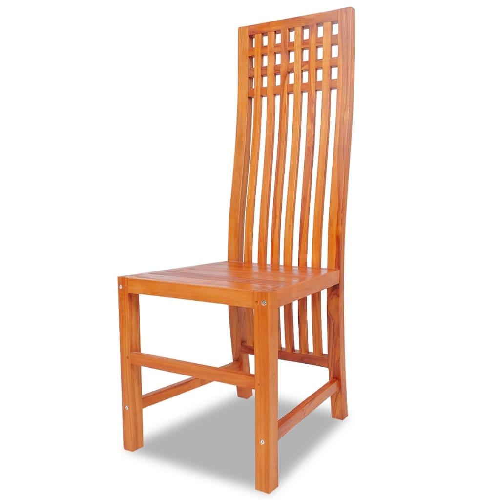 Acheter vidaxl chaises de salle manger 4 pi ces teck for Acheter chaises de salle a manger