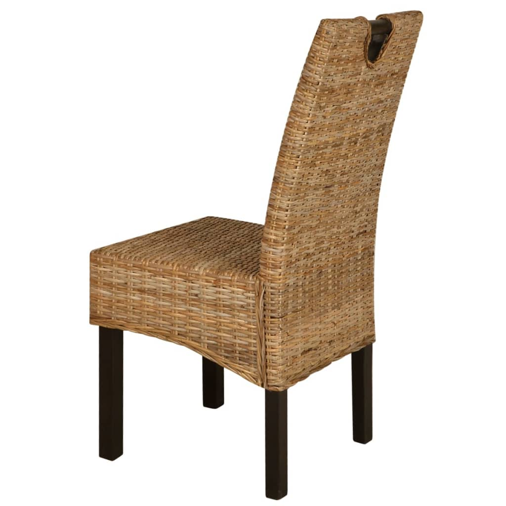 vidaxl esszimmerst hle 4 stk kubu rattan mangoholz. Black Bedroom Furniture Sets. Home Design Ideas
