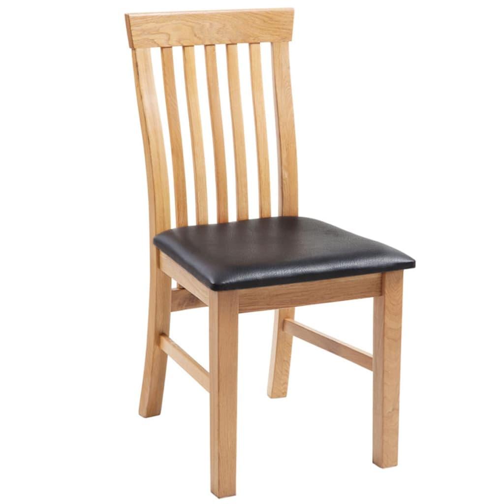 Acheter vidaxl chaises de salle manger bois de ch ne 6 for 6 chaises de salle a manger pas cher