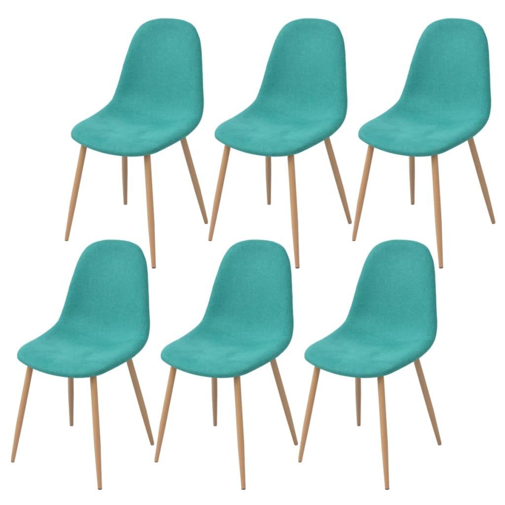 Acheter vidaxl chaises de salle manger 6 pi ces tissu for Chaise de salle a manger verte