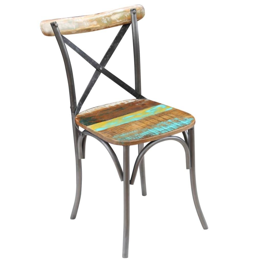 Acheter vidaxl chaises de salle manger 6 pi ces bois for Salle a manger bois massif pas cher