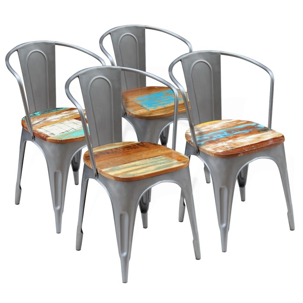 Vidaxl sillas de comedor madera maciza de acacia 51x52x80 for Sillas madera maciza para comedor