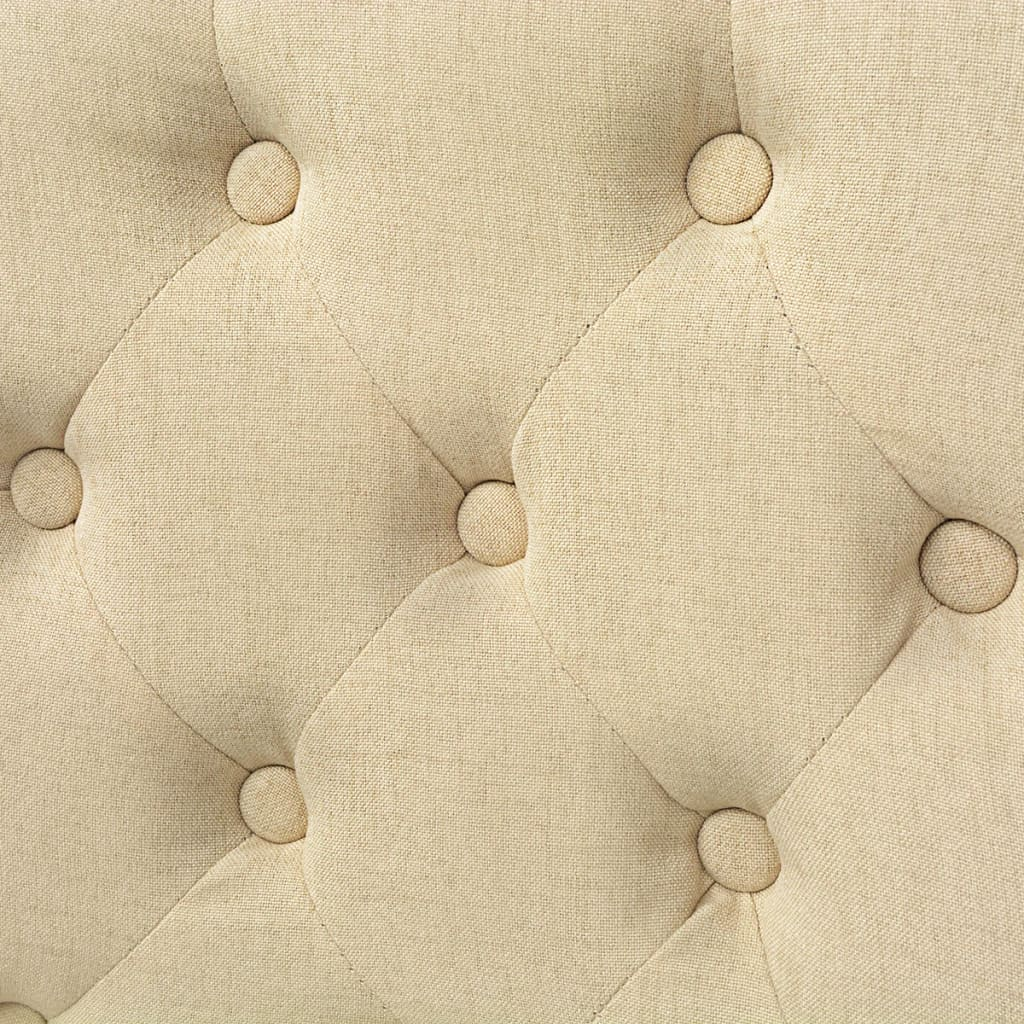 Vidaxl sillas de comedor de roble 6 unidades tela crema for Sillas roble para comedor