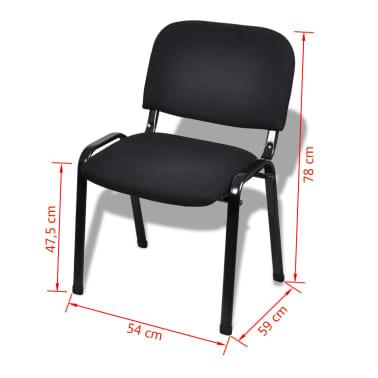 Vidaxl stapelbare kantoorstoelen 16 stuks stof zwart for Kantoorstoelen
