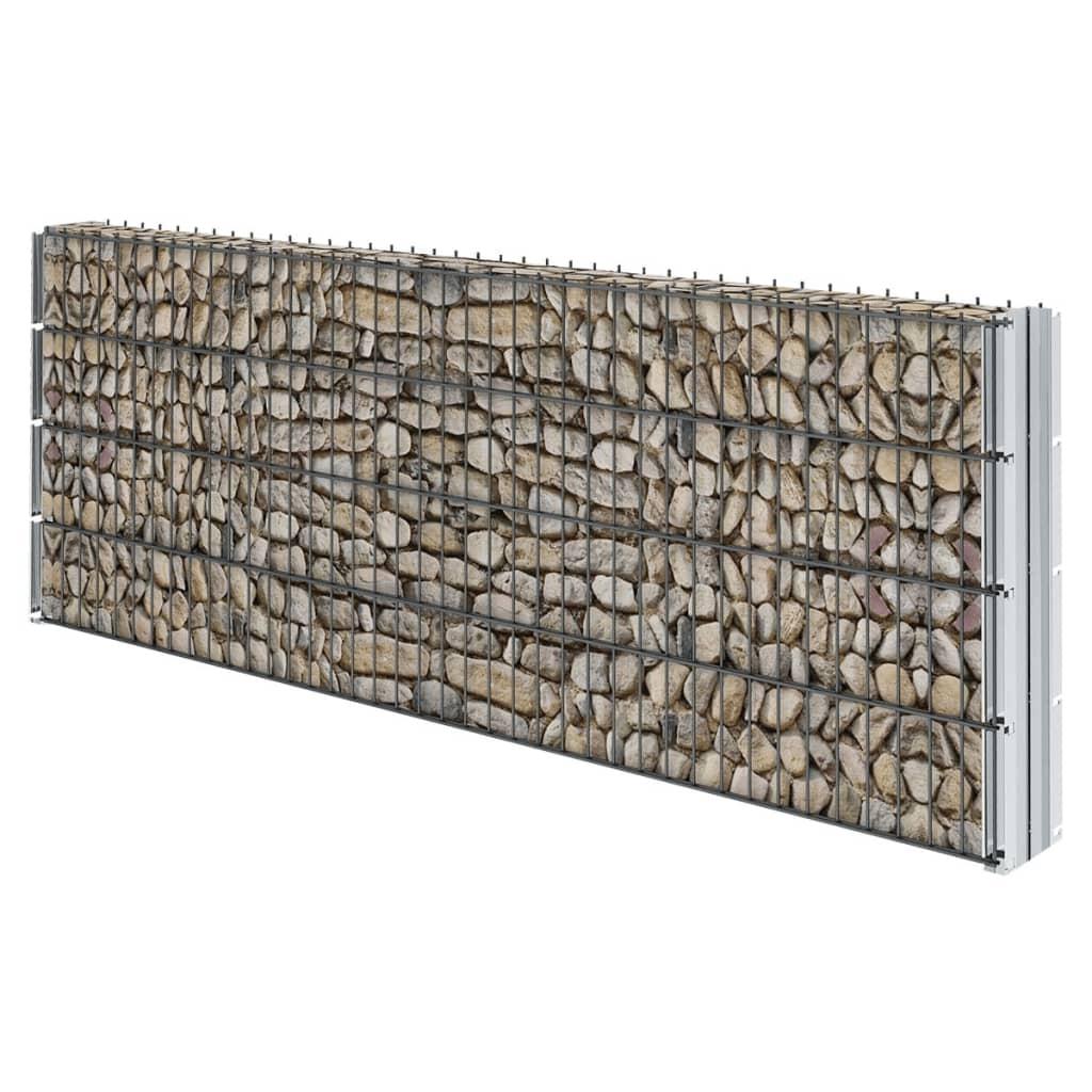 VIDAXL 2D ENSEMBLE de Clôture de Gabion 2008x830 mm 18 m Gris Jardin ...