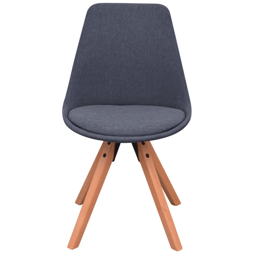 Vidaxl sillas de comedor 6 unidades tela gris oscura - Telas para sillas ...