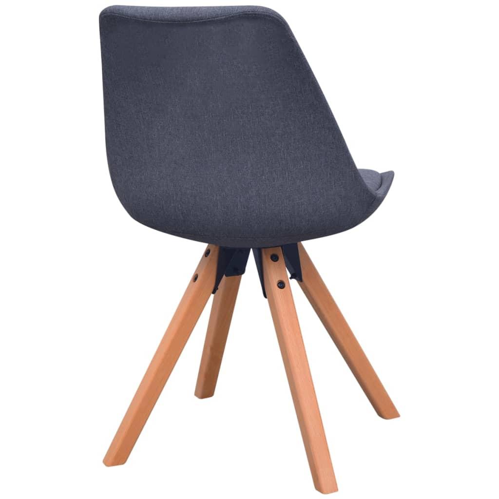 Vidaxl sillas de comedor 6 unidades tela gris oscura for Sillas en gris