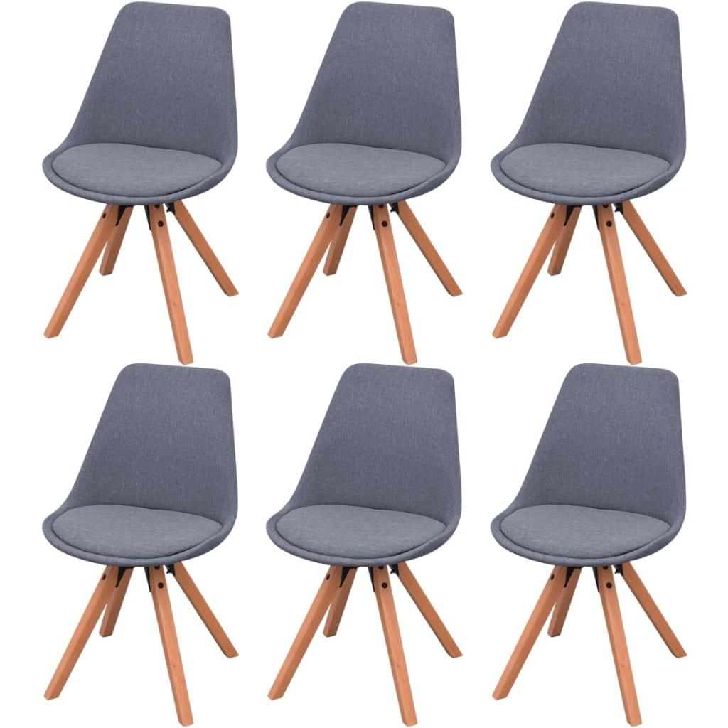 Acheter vidaxl chaises de salle manger 6 pi ces tissu for Solde chaise cuisine