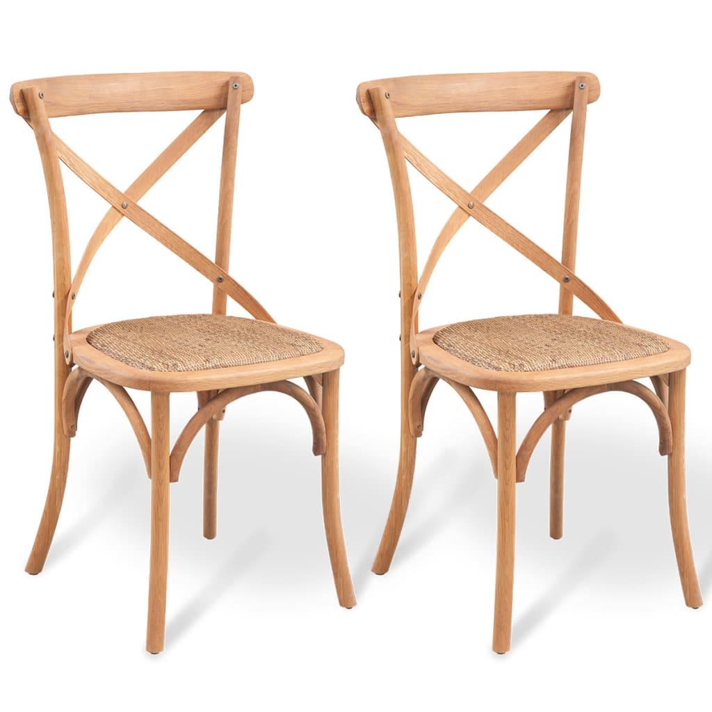 Acheter vidaxl chaise de salle manger 2 pcs ch ne massif for Chaise 90 cm