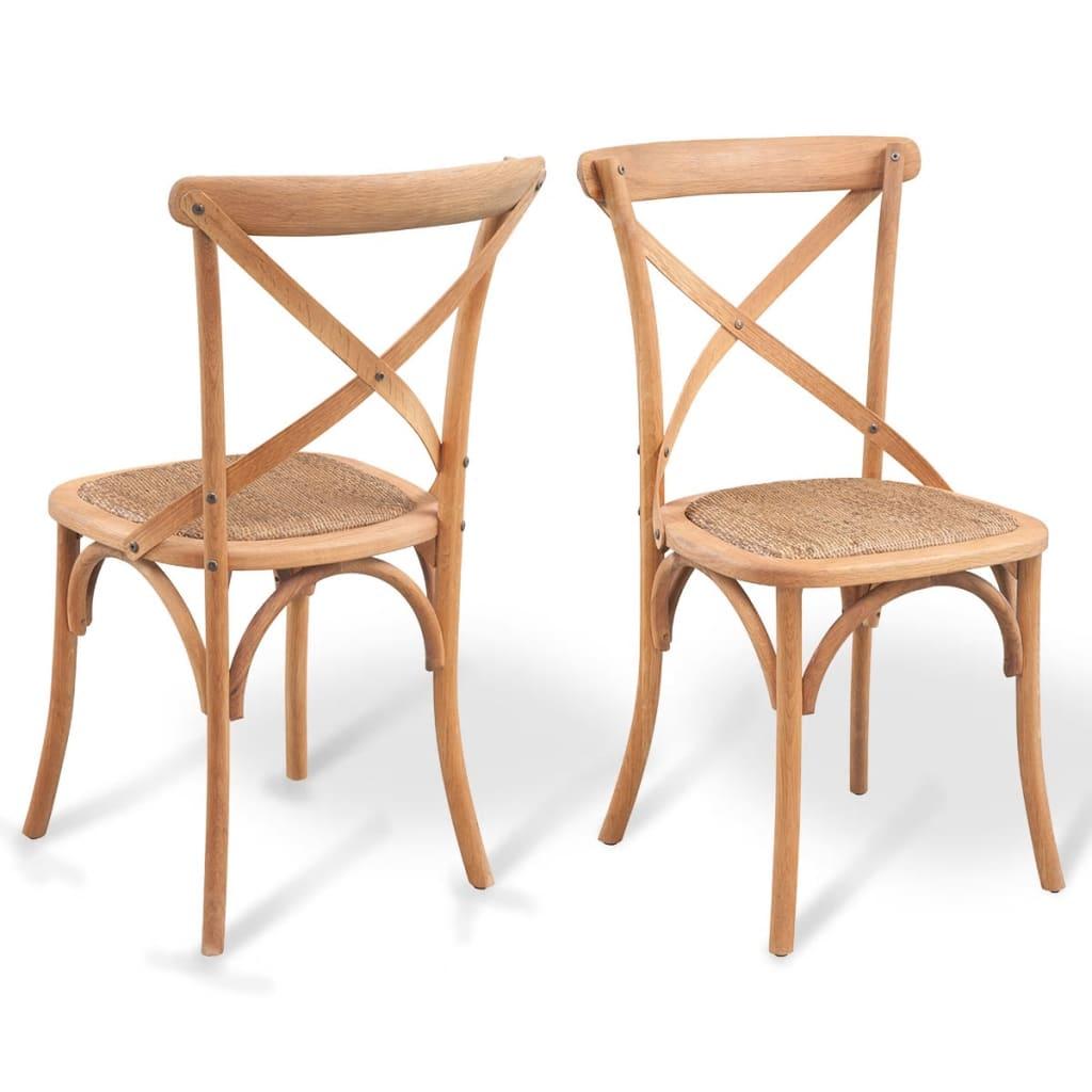 Acheter vidaxl chaise de salle manger 4 pcs ch ne massif for Chaise salle a manger vidaxl