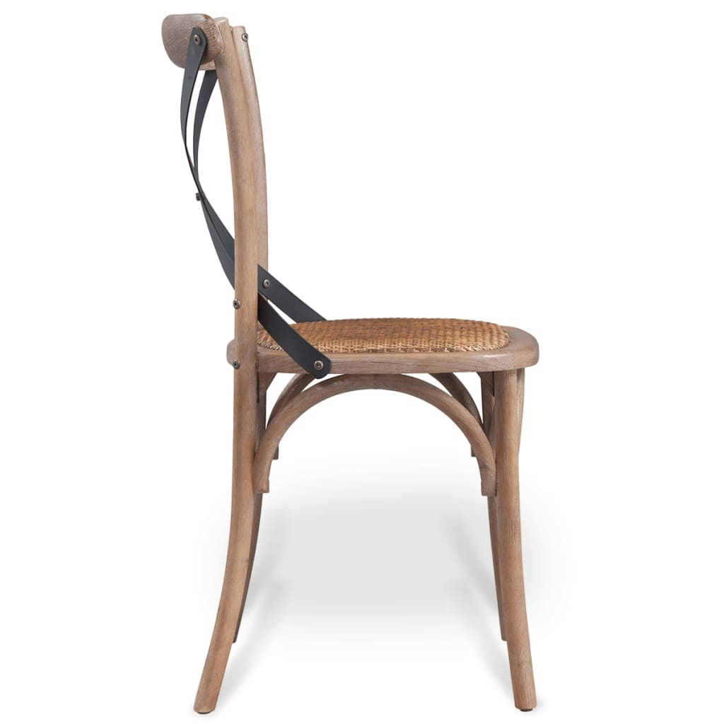 vidaxl esszimmerst hle 2 stk eiche massivholz 48 45 90 cm g nstig kaufen. Black Bedroom Furniture Sets. Home Design Ideas