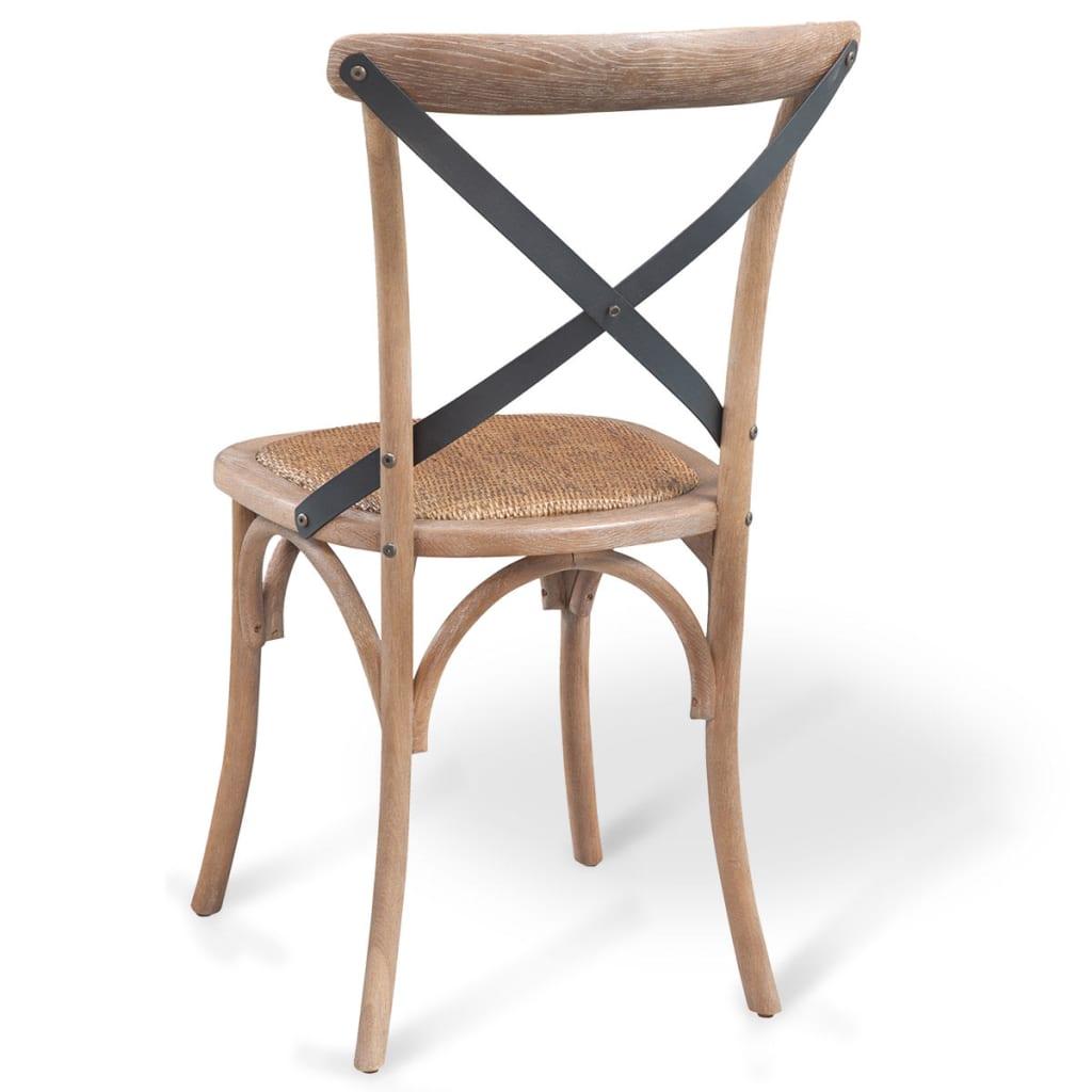 vidaxl esszimmerst hle 2 stk eiche massivholz 48 45 90 cm. Black Bedroom Furniture Sets. Home Design Ideas