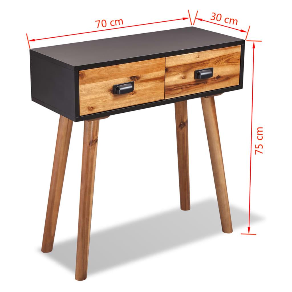 acheter vidaxl mobilier de salon 4 pi ces bois d 39 acacia massif pas cher. Black Bedroom Furniture Sets. Home Design Ideas