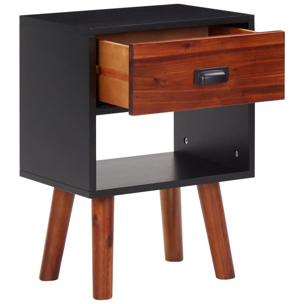 Vidaxl 4 pz set arredo camera letto legno massello acacia for Arredo legno