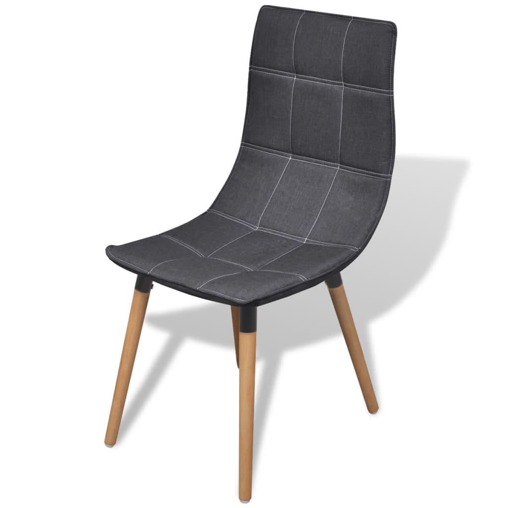 Vidaxl sillas de comedor 6 unidades gris oscuro for Sillas de comedor grises