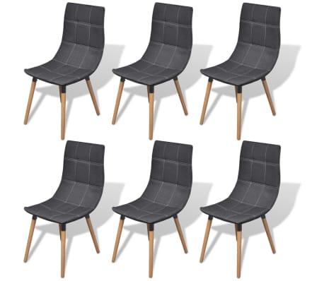 acheter vidaxl chaises de salle manger 6 pi ces gris. Black Bedroom Furniture Sets. Home Design Ideas
