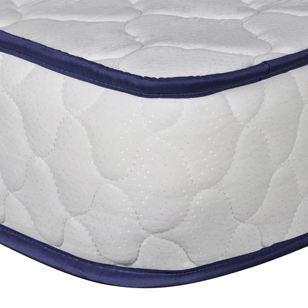 acheter vidaxl lit double avec matelas m moire de forme 180 x 200 cm blanc pas cher. Black Bedroom Furniture Sets. Home Design Ideas