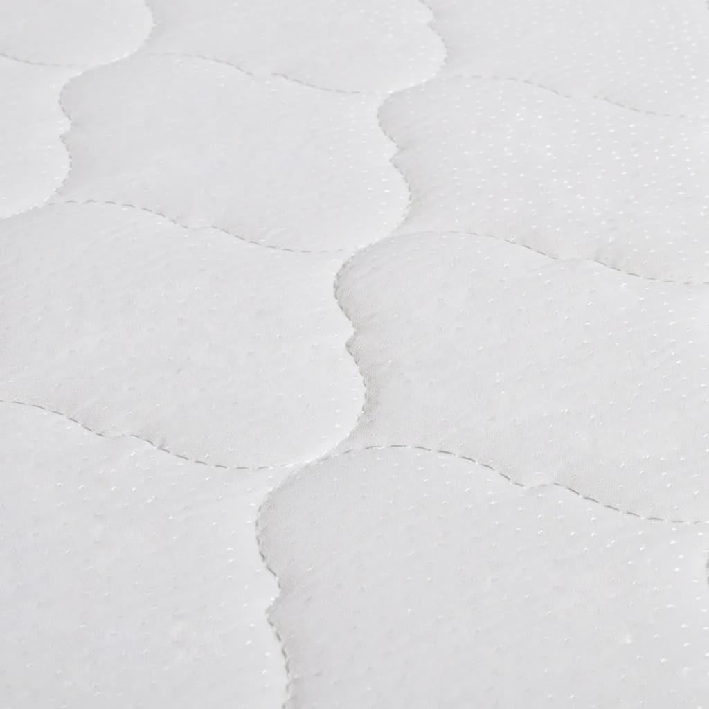 acheter vidaxl lit avec matelas 180 x 200 cm rond cuir artificiel blanc pas cher. Black Bedroom Furniture Sets. Home Design Ideas