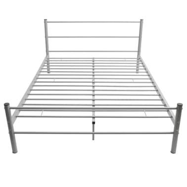 vidaxl doppelbett mit matratze metall grau 140x200 cm im. Black Bedroom Furniture Sets. Home Design Ideas
