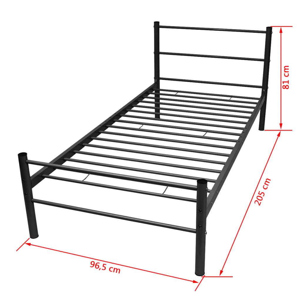 vidaxl einzelbett mit matratze metall schwarz 90x200 cm g nstig kaufen. Black Bedroom Furniture Sets. Home Design Ideas