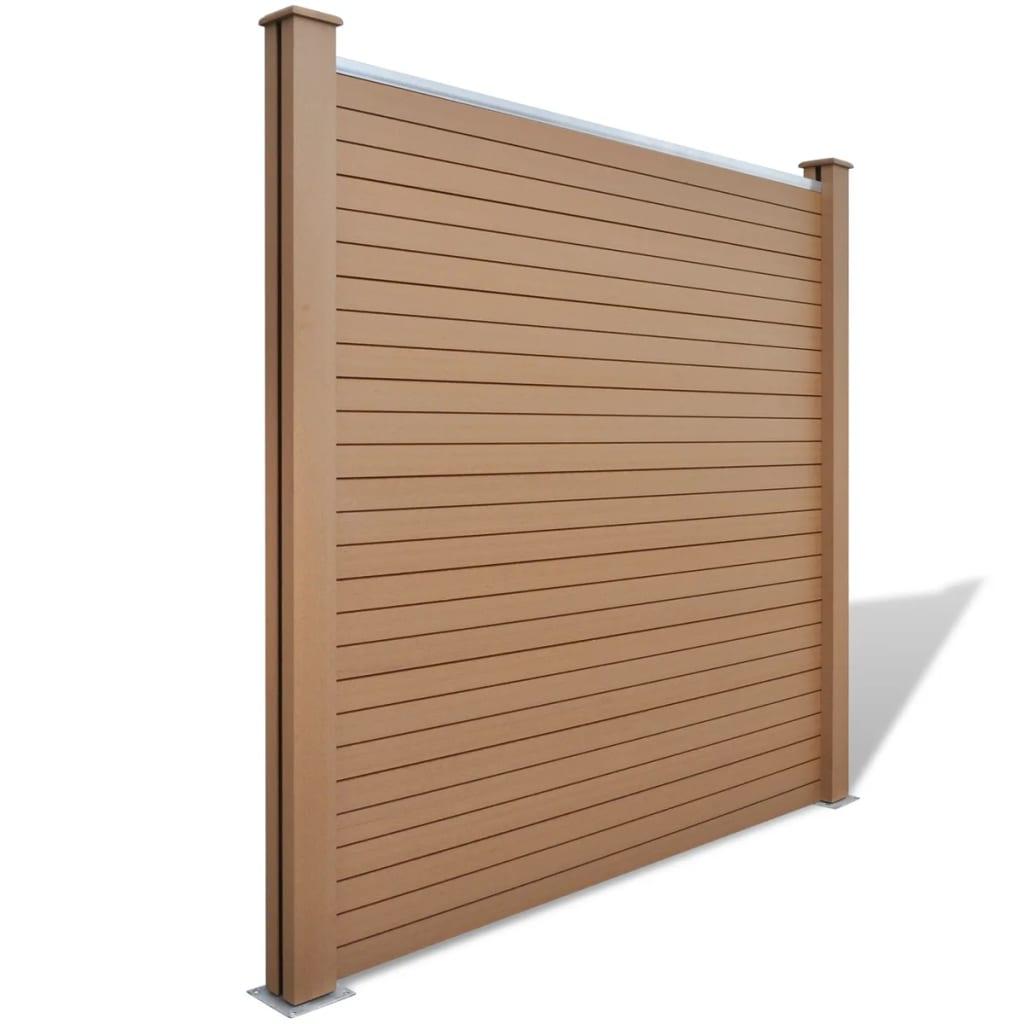 vidaxl gartenzaun elemente 4 stk wpc braun 715 cm zum. Black Bedroom Furniture Sets. Home Design Ideas